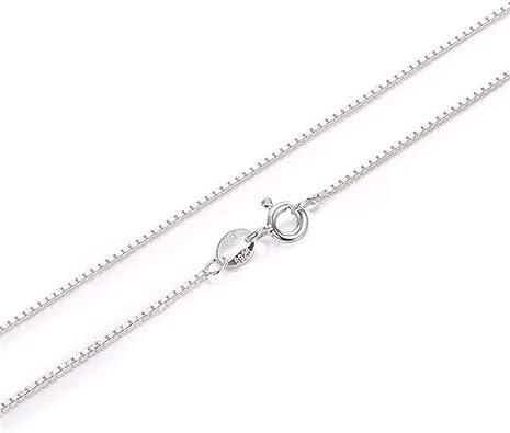 Roapk Caja Collar De Cadena Plata De Ley 925-1 Mm Choker Mujer ...