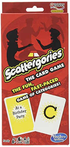 Scattergories The Card Game  Your Favorite Categories Game Meets Slap Jack  For At Home, On a Road Trip, or Vacation  2 or More Players  Ages 8 and Up (The Game Between Sheets)