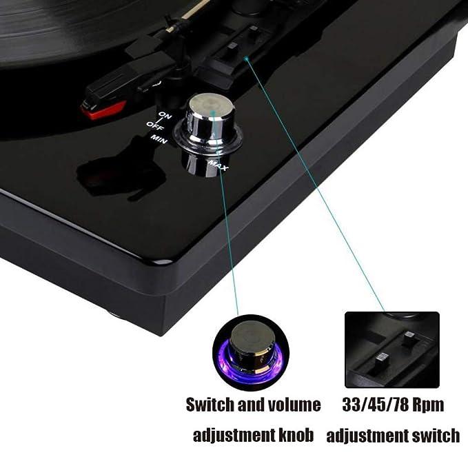 HYLH Reproductor de Discos de Vinilo, Tocadiscos portátiles ...