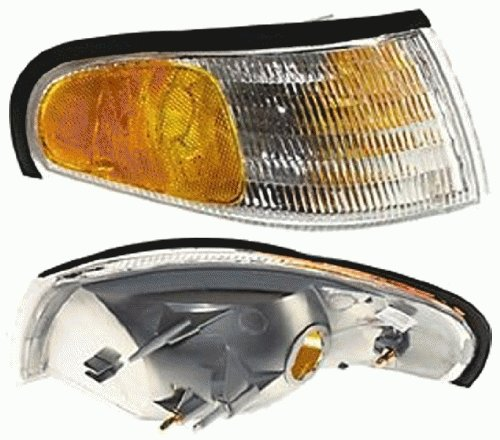 Corner Mustang Clear Lights - Discount Starter and Alternator FO2521125 Replacement Corner Light Fits Ford Mustang Passenger Side Plastic Lens Without Bulbs