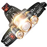 #1: 5000 Lumens 4 Modes Waterproof Rechargeable Headlamp,CREE LED Headlamp Flashlight for Cycling, Running, Dog Walking, Camping, Hiking, Fishing, Night Reading and DIY Works (by STCT Street Cat )