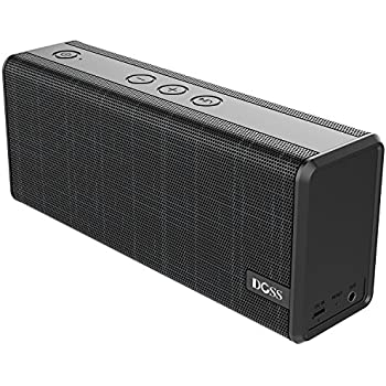 Bluetooth Speaker, DOSS SoundBox Color Portable Wireless Bluetooth4.0 Speakers with 12W Stereo Sound and Enhanced Bass, 12H Playtime and Handsfree for iPhone, iPad, Samsung, Tablet etc[Galaxy Black]