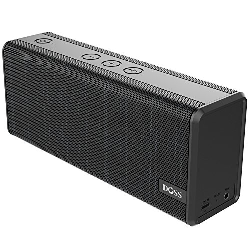 Enhanced Audio (Bluetooth Speaker, DOSS SoundBox Color Portable Wireless Bluetooth4.0 Speakers with 12W Stereo Sound and Enhanced Bass, 12H Playtime and Handsfree for iPhone, iPad, Samsung, Tablet etc[Galaxy Black])