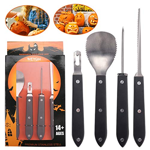 Pumpkin Carving Tools Kit, Heavy Duty Stainless Steel Jack-O-Lantern Sculpting Set for Halloween Party Supplies