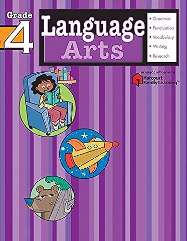 Language Arts: Grade 4 (Flash Kids Harcourt Family Learning) (Language Arts For Kids)