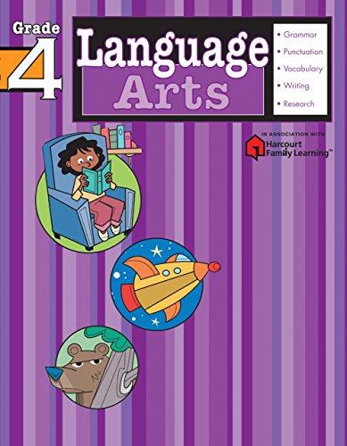 Language Arts: Grade 4 (Flash Kids Harcourt Family Learning)