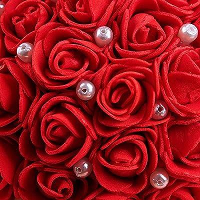 Amazon.com: SODIAL - Cojín para anillos de boda, diseño de ...