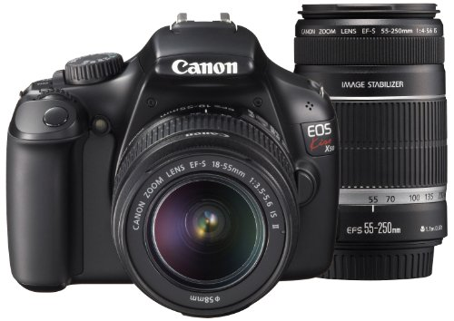 キヤノン イオスキス X50 ブラック ダブルズームキット EFS1855mm F3.55.6 IS IIEFS55250mm F45.6 ISの商品画像