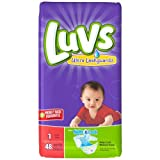 Health & Personal Care : Luvs Stretch with Size 1 Ultra Leakguards Diapers, 48 count per pack -- 2 per case.