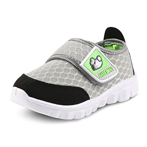 Toddler Shoes Baby Sneaker Shoes for Boys Girls Kids Breathable Mesh Lightweight Cute Athletic Running Walking Casual Shoes(4 M US Toddler,Gray,19)