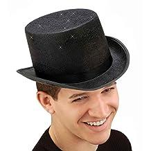 Forum Novelties Men's Glitter Mesh Adult Novelty Top Hat, Black, One Size