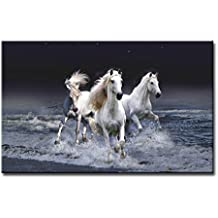 Black And White Wall Art Painting Mystic Horses Running Across Sea Prints On Canvas The Picture Animal Pictures Oil For Home Modern Decoration Print Decor