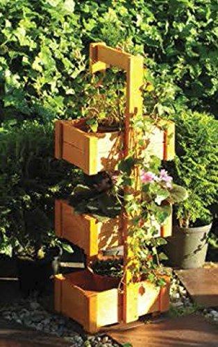 Handelgross Pflanzturm Hochbeet Blumentreppe Holz 75 X 17 5 X 26 5