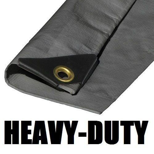 9'X16' EXTRA Heavy Duty Silver Tarp (Extra Heavy Duty Shelter)