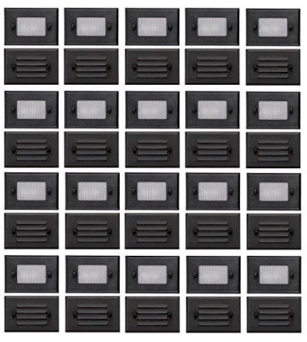 - 20 Pack of Malibu 8301-2402-20 Half Brick Deck Step Light w/ 2 Lenses ea, 7 Watt, Black Finish BY MALIBU DISTRIBUTION