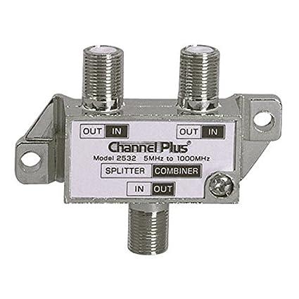 2 Way Splitter Combiner Bi-Directional 1 GHz Video Signal Coaxial DC Block Coax Cable