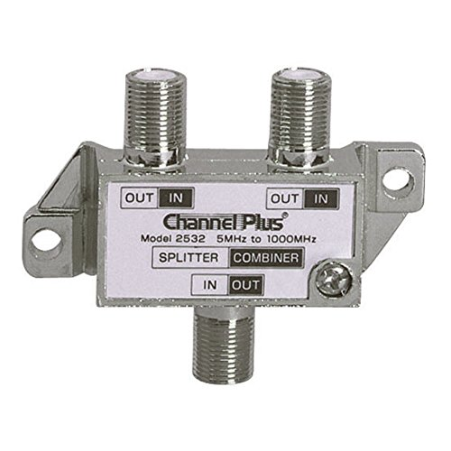 Splitter Combiner Video - 2 Way Splitter Combiner Bi-Directional 1 GHz Video Signal Coaxial DC Block Coax Cable Splitter UHF / VHF TV Antenna Combiner, 5-1000 MHz