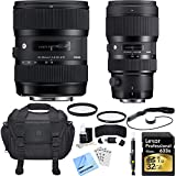 Sigma AF 18-35mm f/1.8 DC HSM + 50-100mm f/1.8 DC HSM Lens for Canon Deluxe Bundle includes Lenses, Bag, 32GB SDHC Memory Card, UV Filters, Cleaning Kit, Card Wallet, Beach Camera Cloth and More!