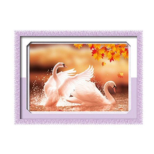 5D Swan DIY Cross Stitch Painting Sticker Pasted Gift - 8