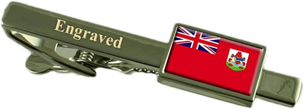 Bermuda Flag Engraved Personalised Tie Clip