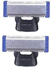 Iycorish Replacement Trimmer Blade for MICRO TOUCH SOLO Electric Shaver Cleaning Cutter Head (2 PCS)
