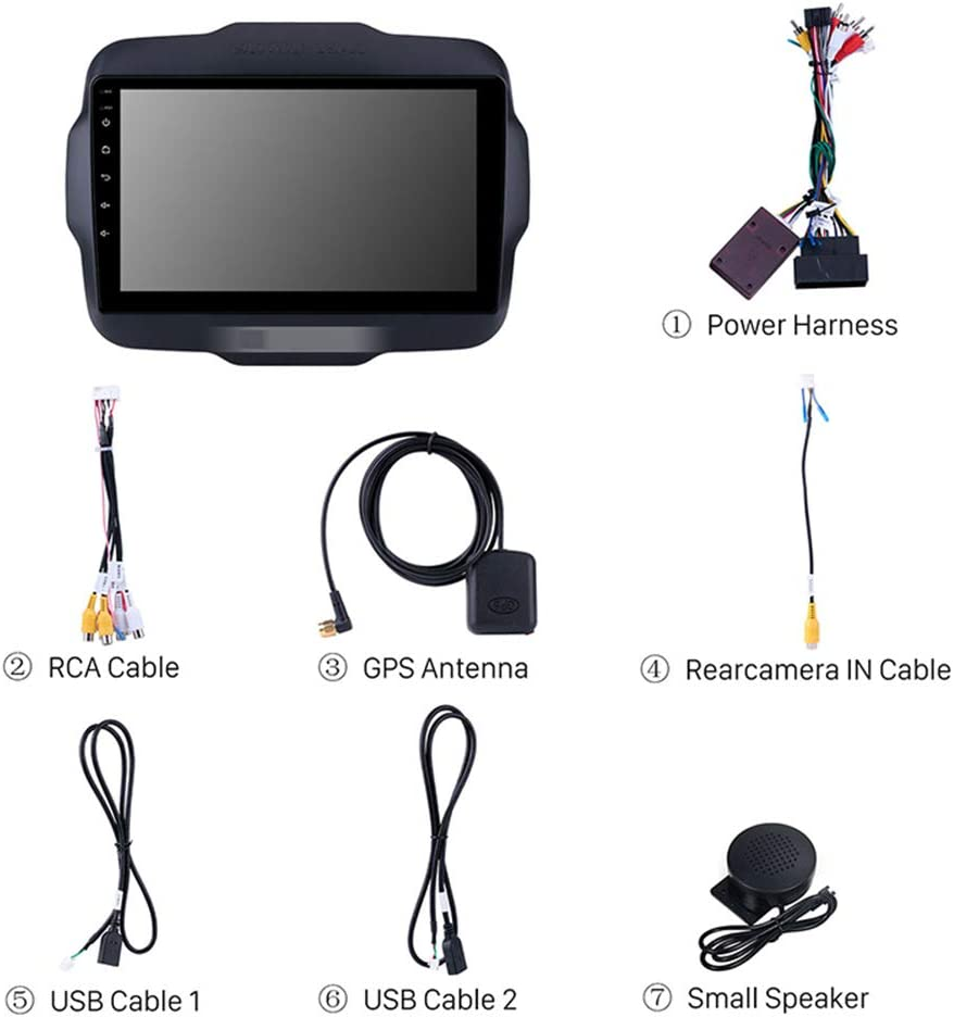 ,WiFi 1g+16g Quad Core 32GB Rom Bluetooth Radio Stereo Navigazione GPS Foof Per Jeep Renegade 9 Pollice Auto GPS Navigazione Stereo in Dash Radio per Schermo 16