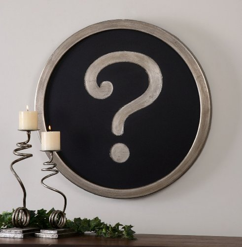 Uttermost Question Mark Wall Art with Antiqued Silver Accented With A Matte B... (Accented Matte)