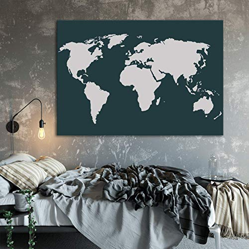 World Map Stencil Template for Walls and Crafts - Reusable Stencils for Painting in Small & Large Sizes by Stencil Revolution (Image #1)