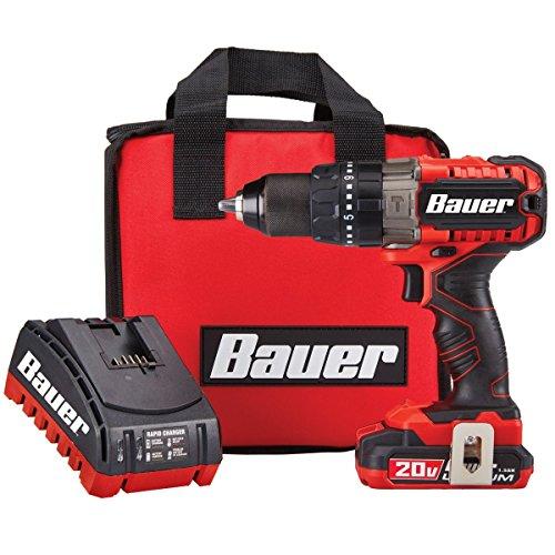 Bauer 20V Hypermax Lithium 1/2 in. Hammer Drill Kit