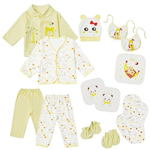 1590e9475 18PCS Newborn Clothes Infant Layette Set 0-3 Months Baby Girl Boy ...