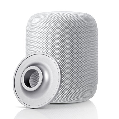 Circle HomePod Stand, Aluminum Alloy Coaster Homepod Shock Proof Anti Slip Pad Compatible with Apple HomePod Speaker (Silver)