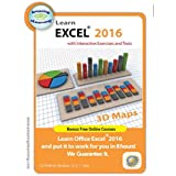Learn Microsoft Excel 2016 Interactive Training CD Course