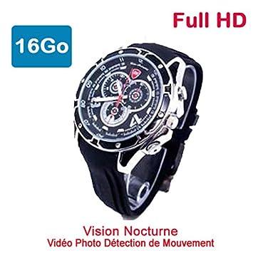 Reloj Mini Cámara Oculta Espía 16 GB Full HD 1920 x 1080 Visión Nocturna Racing 47bm16: Amazon.es: Electrónica