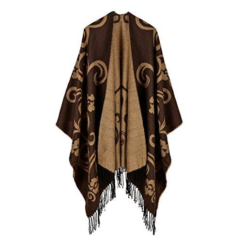 Mantello Morbido Sciarpa Poncho Cashmere Elegante Nappe Invernale Scialle con YUANMY Caff Grande Donna 0qwRRC