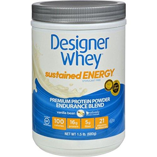 Designer Whey Protein Powder Sustained Energy Vanilla Bean 1.5 lb