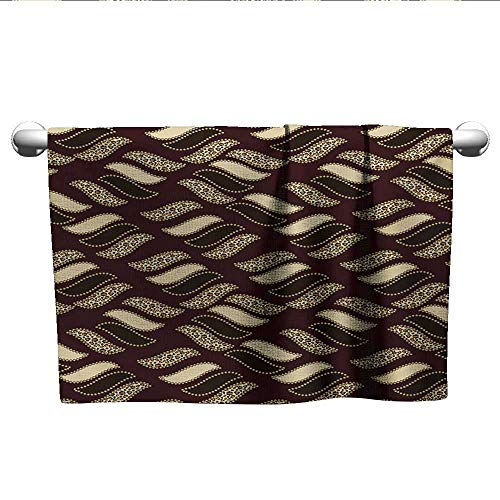 (alisoso African,Boys Towel Ethnic African Style Cheetah Skin Texture Pattern Camouflage Design Quick-Dry Towels Redwood Brown Pale Yellow W 14