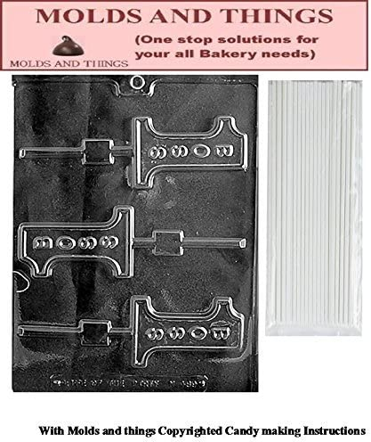 #1 Boss Lolly Chocolate Candy Mold FREE STICKS