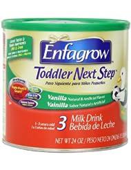 Enfagrow美赞臣金樽3段幼儿奶粉24盎司罐装 Next Step 香草味折后 $14.98