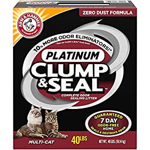 ARM & HAMMER Clump & Seal Platinum Cat Litter, Multi-Cat 40