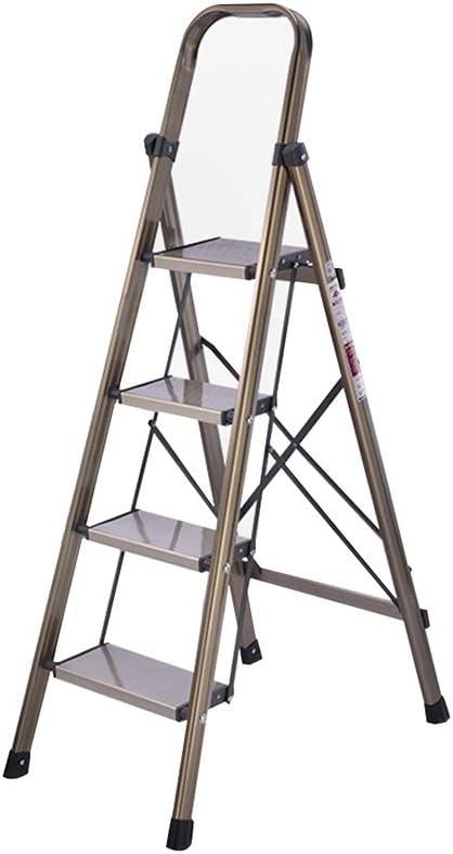 XSJZ Taburete Multifuncional, Pedal de Ampliación de 4 Pasos Escalera de Espiga Portátil Plegable Ligera Compacta Que USA La Escalera Pesada Ascendente de Site Work Escalera Plegable: Amazon.es: Hogar
