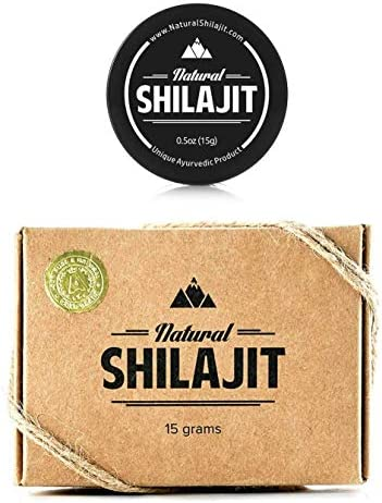 Shilajit Resin 15gr 66.8 Fulvic Acid 10.1 Humic Acid – Top Quality Source of Organic, Plant-based Nutrients for Energy, Weight Management, Libido and Vitality.