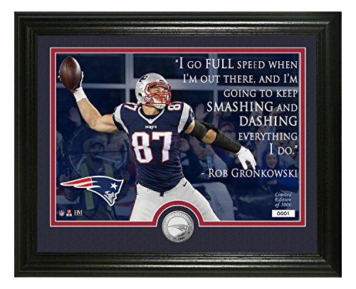 NFL New England Patriots Rob Gronkowski Quote Silver Coin Photo Mint, 17