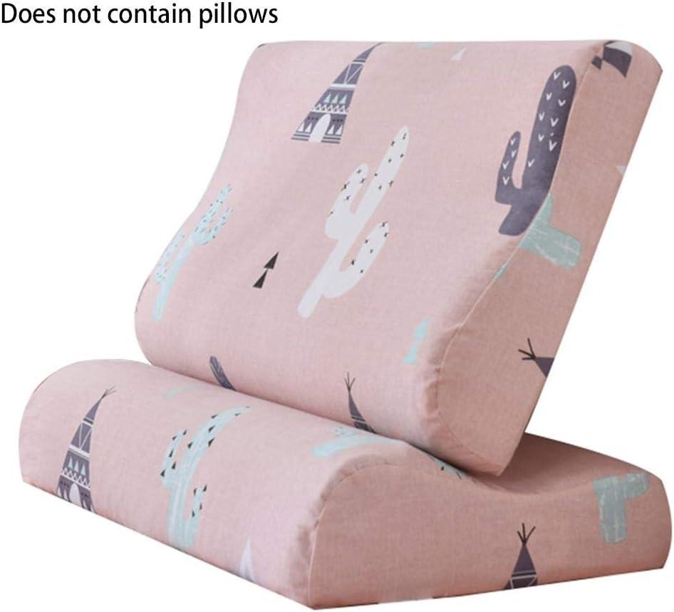 QUUYAlmohada de látex, Almohada ortopédica Cervical Cuello Almohada para Dormir Protección Vértebra Cuidado de la Salud Ortopedia Cama de Rebote Lento Almohada Cervical Almohada de Viaje