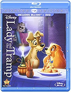 Cover Image for 'Lady and the Tramp (Diamond Edition Two-Disc Blu-ray/DVD Combo in Blu-ray Packaging)'