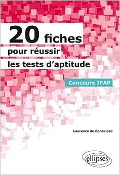 20 Fiches pour Réussir des Tests d'Aptitude Concours IFAP