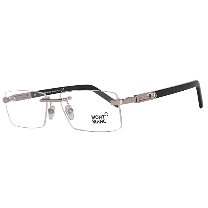 9ae5dabbe6 Montblanc Prescription Eyeglasses - MB0398 016 - Shiny Palladium   Amazon.ca  Clothing   Accessories
