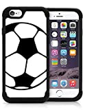 img - for iPhone 5 5S Case Cover OxyHybrid Soccer Ball Line Art Sport Love Teen Girls Drop Protection Plastic And Silicon Hybrid Case. book / textbook / text book