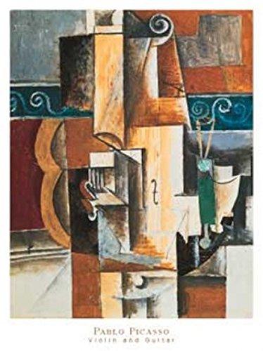 Pablo Picasso – ヴァイオリンとギター ファインアート プリント (60.96 x 81.28 cm) B00725KBM8