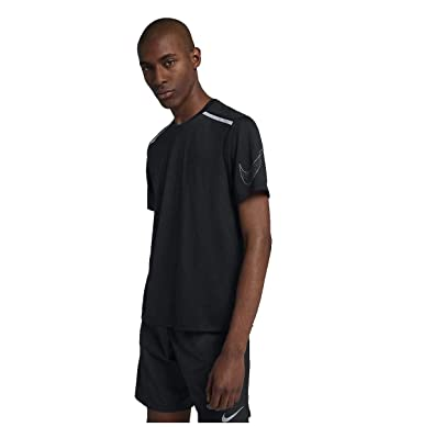 9243f1c8 Nike Men's Rise 365 Breathe Just Do It Running Shirt-Black at Amazon Men's  Clothing store: