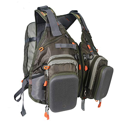 M MAXIMUMCATCH Maxcatch Fly Fishing Vest Adjustable Size Mesh Fishing Backpack